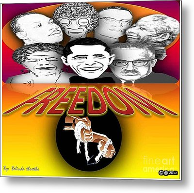 Famous Great Persons Metal Print