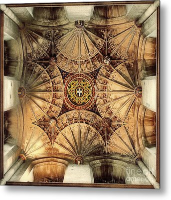 Fan Vaulting Canterbury Cathedral Metal Print by Jack Torcello