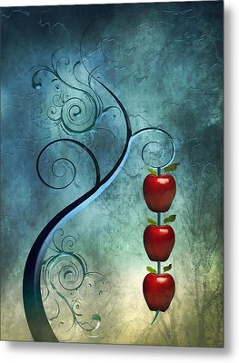 Metal Print featuring the digital art Fanciful by Katy Breen