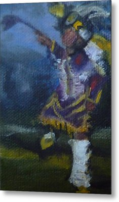 Metal Print featuring the painting Fancy Dancer Long Beach Pow Wow by Jessmyne Stephenson
