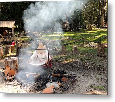 Fanning The Flames Metal Print by Marilyn Holkham