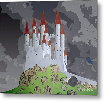 Fantasy Castle Metal Print by Rod Jones