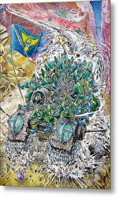 Fantasy Tank Running Wild Metal Print by Fabrizio Cassetta