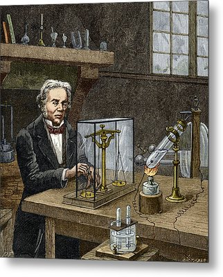 Faraday's Electrolysis Experiment, 1833 Metal Print by Sheila Terry