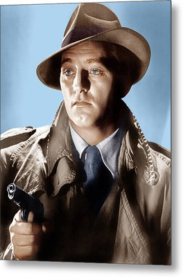 Farewell My Lovely, Robert Mitchum, 1975 Metal Print by Everett
