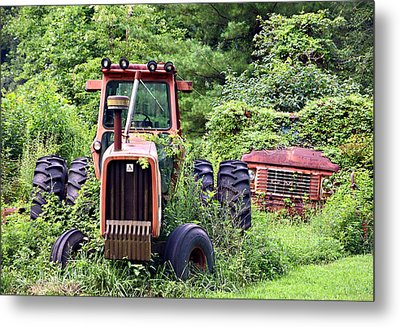 Farm Equipment Metal Print by Susan Leggett
