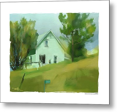 Farm House In Lucknow Ontario Metal Print by Bob Salo