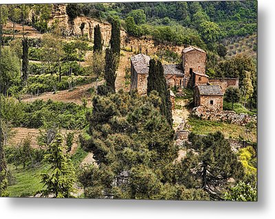 Metal Print featuring the photograph Farm Orvieto Italy by Hugh Smith