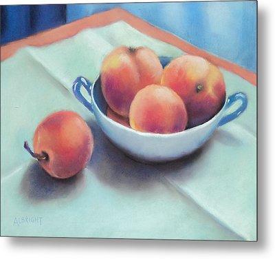 Farm Peaches Metal Print by Judy Albright