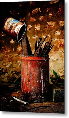Farm Yard Bucket Metal Print