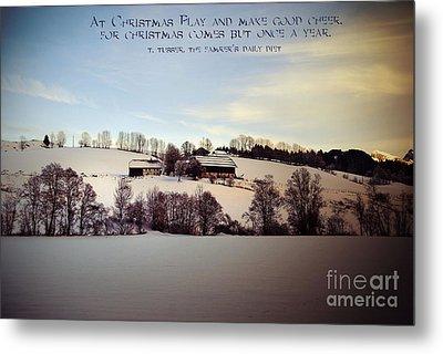 Farmer's Christmas Metal Print by Sabine Jacobs