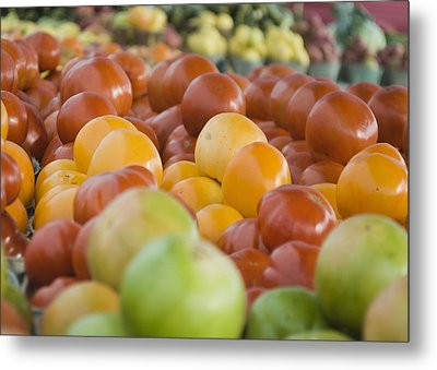 Farmers Market - 011 Metal Print by Lisa Missenda