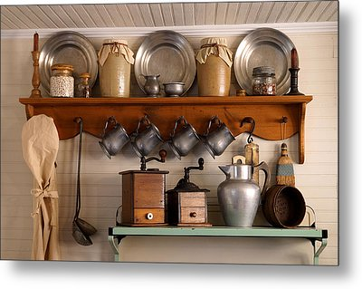 Farmhouse Collectables Metal Print by Carmen Del Valle