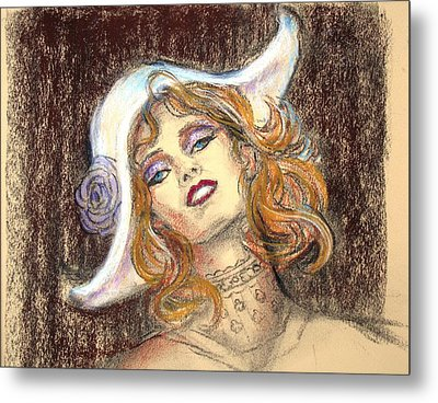 Metal Print featuring the drawing Fashion Drawing by Sue Halstenberg