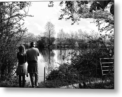 Father And Daughter - River Dee Chester Metal Print by Georgia Fowler