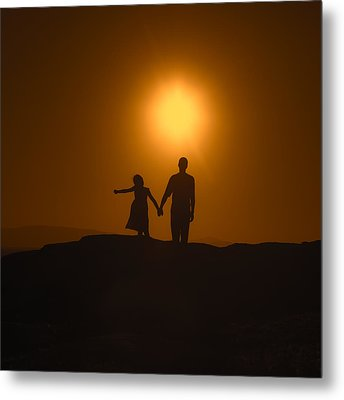 Father And Daughter Metal Print by Joana Kruse