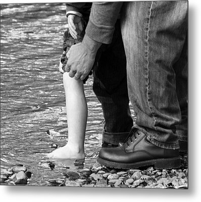 Father And Son 2 Metal Print by David Lester