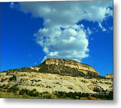 Faux Volcano Metal Print by Lin Haring