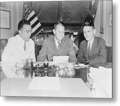 Fbi Director J. Edgar Hoover Metal Print by Everett