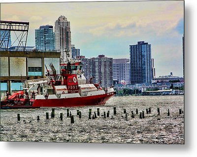 Fdny Fireboat Metal Print by Terry Cork