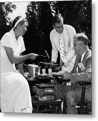 Fdr Presdidency. First Lady Eleanor Metal Print by Everett
