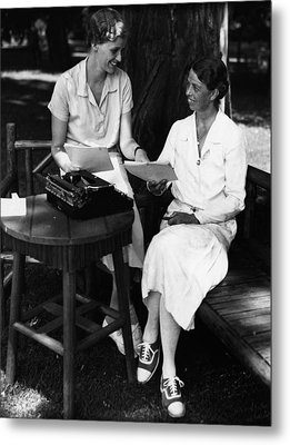 Fdr Presidency. Daughter Of First Lady Metal Print by Everett