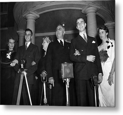Fdr Presidency. From Left Anna Metal Print