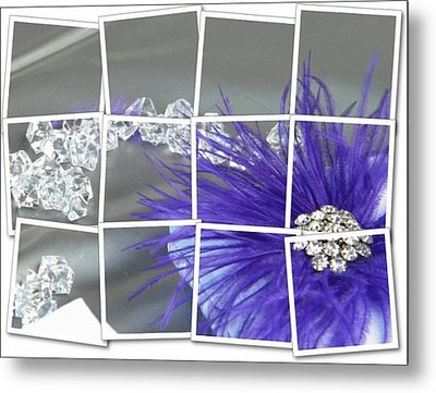 Feather And Jewels Metal Print by Michelle Frizzell-Thompson
