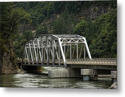 Metal Print featuring the photograph Feather River Bridge by Gary Rose