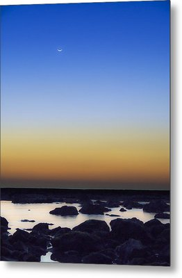 February New Moon Metal Print