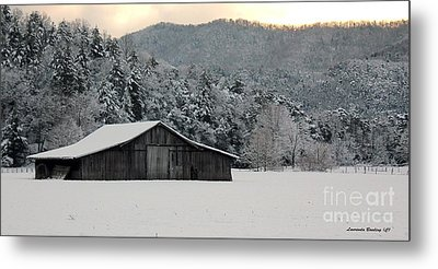 Metal Print featuring the photograph February's Snow by Laurinda Bowling