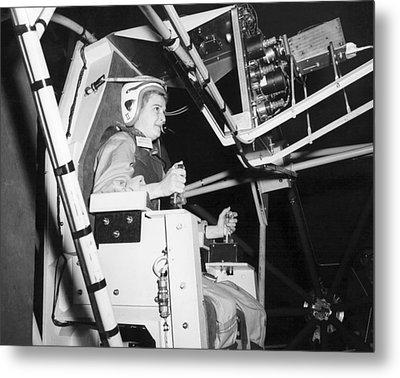 Female Astronaut Training Metal Print by Nasa