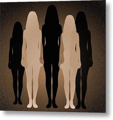 Female Identity, Conceptual Image Metal Print by Victor De Schwanberg
