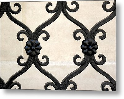 Metal Print featuring the photograph Fence Close-up 001 by Dorin Adrian Berbier