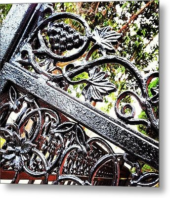 #fence #gate #decorative #ornamental Metal Print by Daniel Corson