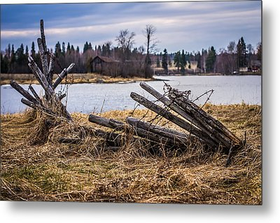 Metal Print featuring the photograph Fence In A Haystack by Matti Ollikainen