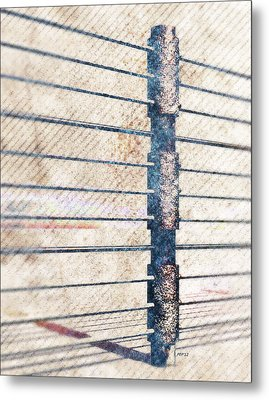 Metal Print featuring the digital art Fence Post by Phil Perkins