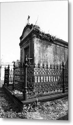 Fenced In Metal Print by Cheri Randolph