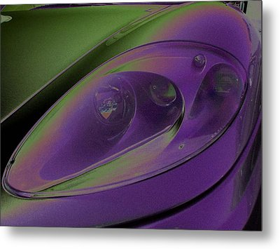 Metal Print featuring the photograph Ferrari Light by Carolina Liechtenstein