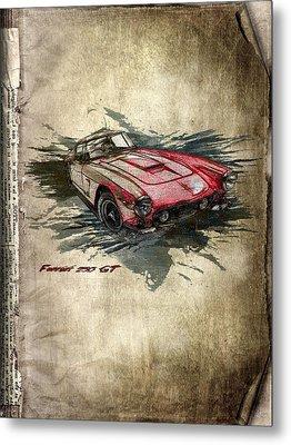 Ferrari Metal Print by Svetlana Sewell