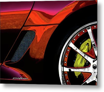 Ferrari Wheel Detail Metal Print by Douglas Pittman