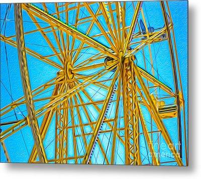 Ferris Wheel Metal Print by Gregory Dyer