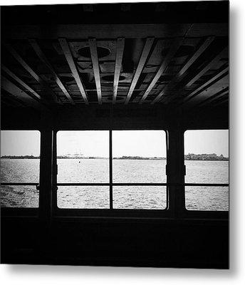 Ferry Window Metal Print by Eli Maier