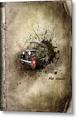 Fiat Classic Metal Print by Svetlana Sewell