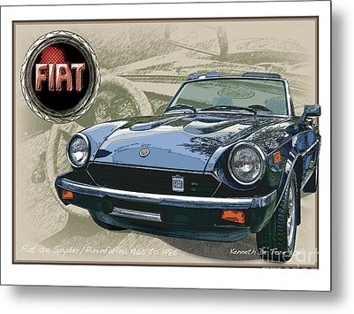 Fiat Spyder Metal Print by Kenneth De Tore