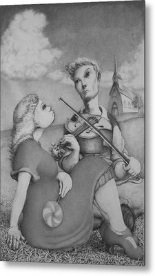 Fiddle Metal Print by Louis Gleason