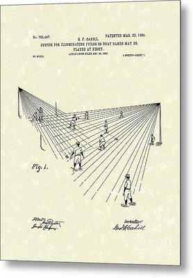 Field Lighting 1904 Patent Art Metal Print by Prior Art Design