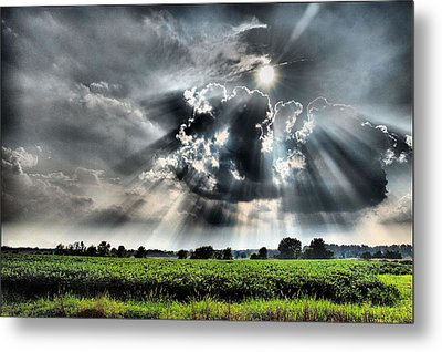 Field Of Beams Metal Print