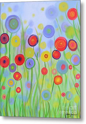 Metal Print featuring the painting Field Of Dreams by Stacey Zimmerman