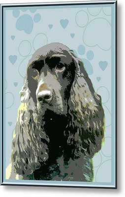 Field Spaniel Metal Print by One Rude Dawg Orcutt
